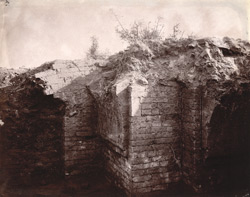 Ruined cloisters dug up near the Indpai or Indappe Tope, Jamui, Monghyr (Munger) District